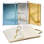 Journal Neoskin à couverture rigide métallique