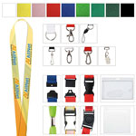 "1"" Polyester 4 Color Lanyard"