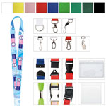 "3/8"" Polyester 4 Color Lanyard"