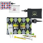 """Pochette de golf à motifs avec accessoires - tés 3-1/4"""""""