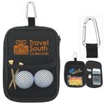 Pochette en microfibre pour accessoires de golf avec mousqueton