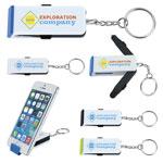 Porte-clés avec support de téléphone, stylo et stylet