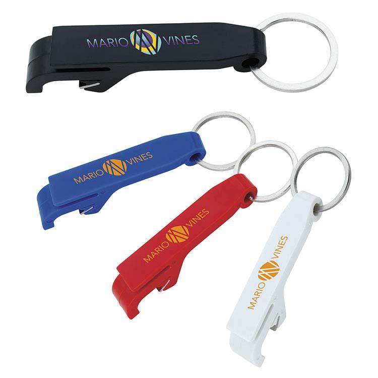 Porte-clés ouvre-bouteilles en plastique