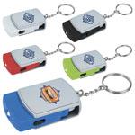 Porte-clés pivotant à 3 fonctions