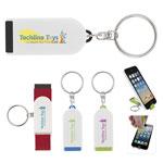 Porte-clés support de téléphone et lingette d'écran