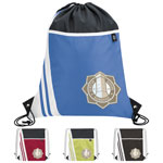 Winners Take All Drawstring Polyester Backpack