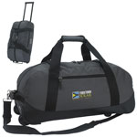 Deluxe Wheeled Jacquard Polyester Duffel