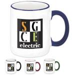 Two-Tone Ceramic Mug 12 oz