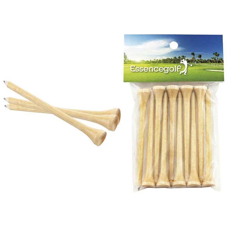 Crayons/Tés de golf Teecil avec carton imprimé