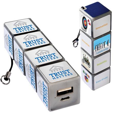 Chargeur portatif personnalisé Cube Rubik #2