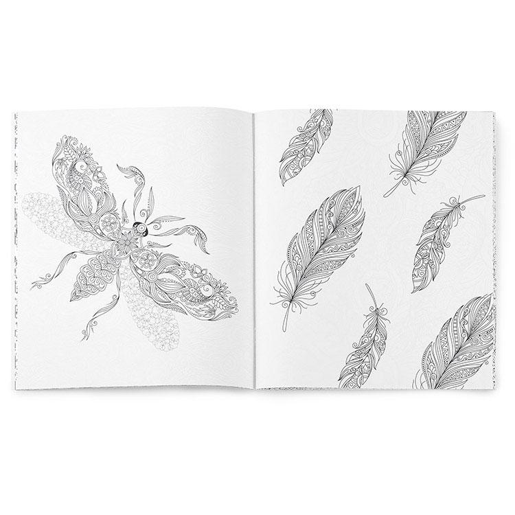 Combiné de livre de coloriage anti-stress Zen #8