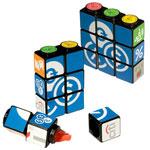 Ensemble de surligneurs personnalisés Cube Rubik avec aimant