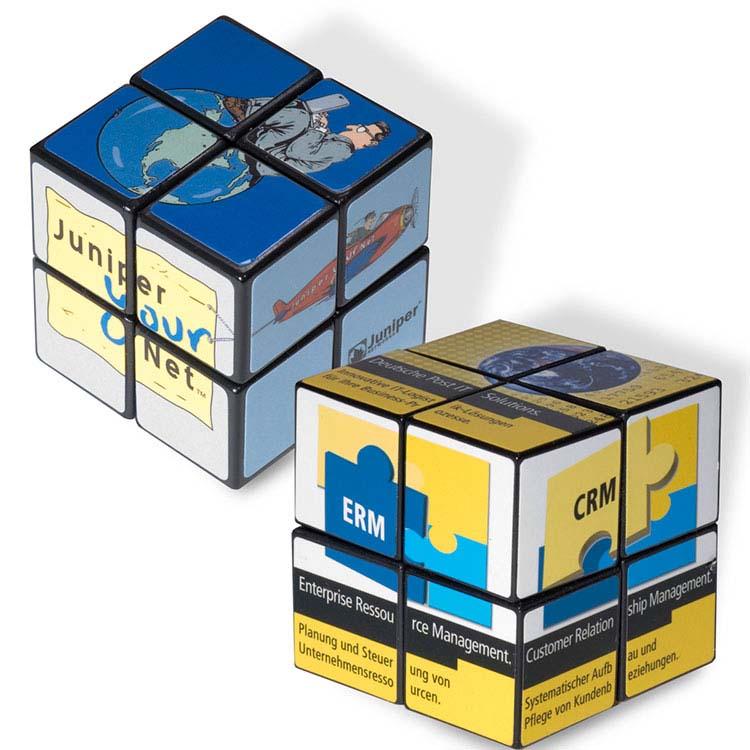 Mini Cube Rubik personnalisé à 4 panneaux