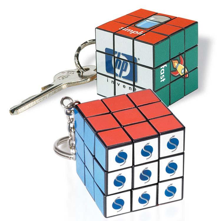 Petit porte-clés personnalisé Cube Rubik