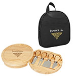 Nylon Cooler Bag, Oak Wood Board and Stainless Steel Tools