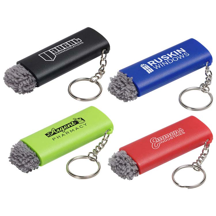 Porte-clés DEL avec brosse