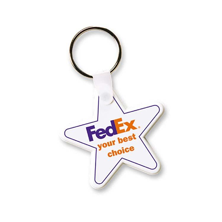 Porte-clés flexible étoile