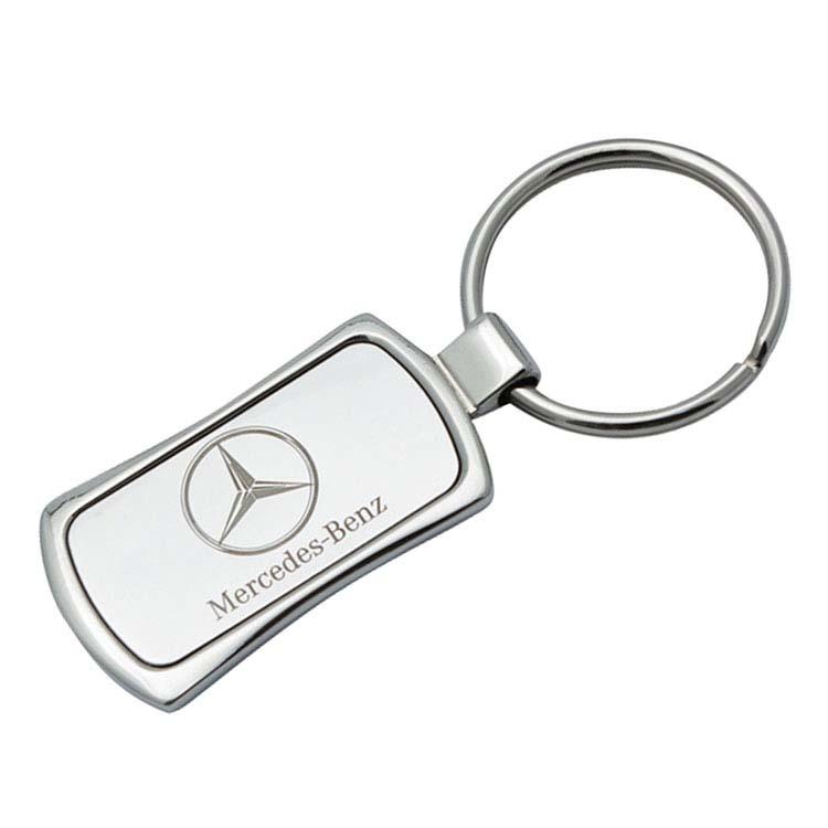 Porte-clés rectangulaire courbé