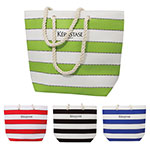 Multi Stripe Beach Bag