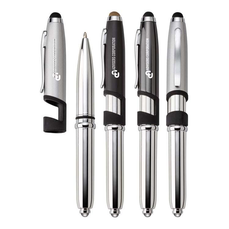 Stylet/stylo/lampe de poche/support à téléphone Nolan