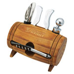 Wine Barrel Shaped Accessory Kit