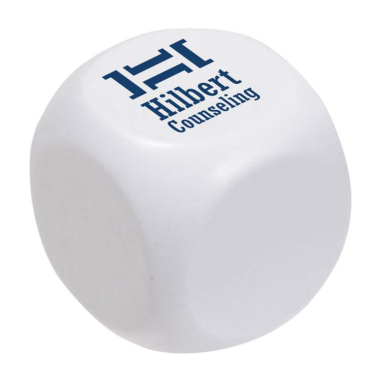 Rounded Cube Slow-Release Stress Ball