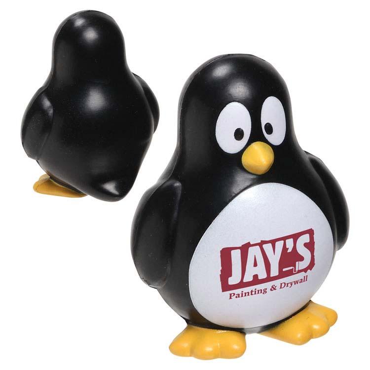 Balle anti-stress lente pingouin