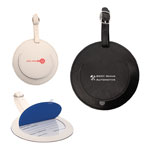 Simulated Leather Round Luggage Tag