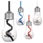 Light Bulb 20oz Tumbler with Straw