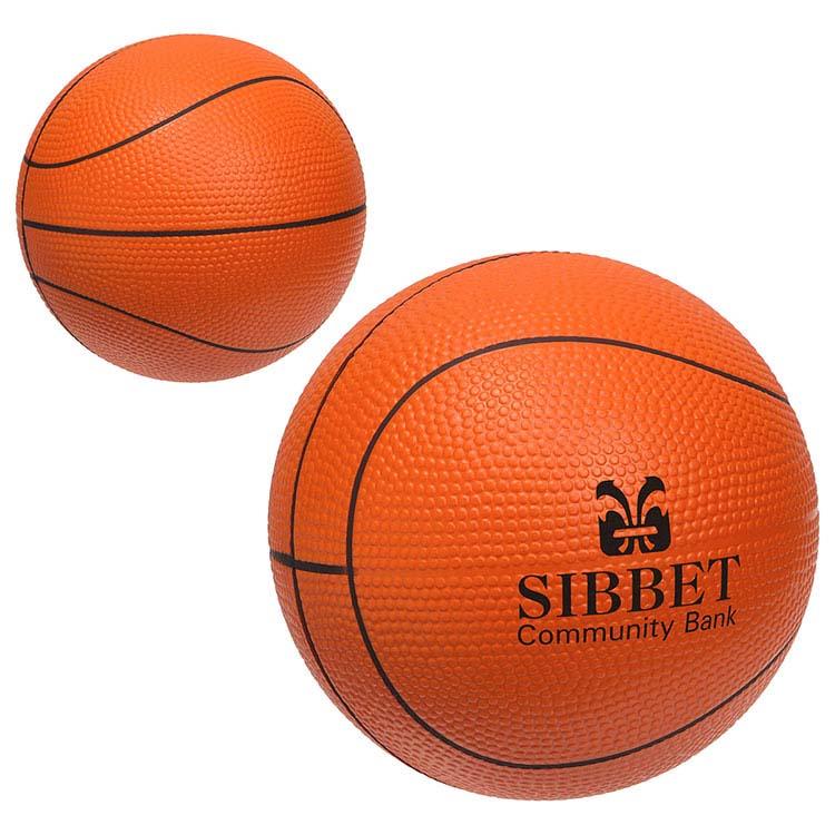 Grand ballon de basketball anti-stress