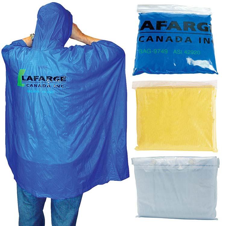 Poncho de pluie de sûreté pour adultes - PVC