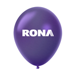 "Ballon 12"" métallique Premium en latex mauve"