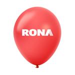 """Ballon 12"""" métallique Premium en latex rouge"""