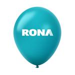 "Ballon 12"" métallique Premium en latex turquoise"