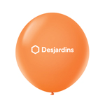 "17"" Premium Latex Balloon Tangerine Orange"
