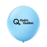 """Ballon 36"""" Premium standard en latex bleu pastel"""