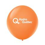 "Ballon 36"" Premium standard en latex orange mandarine"