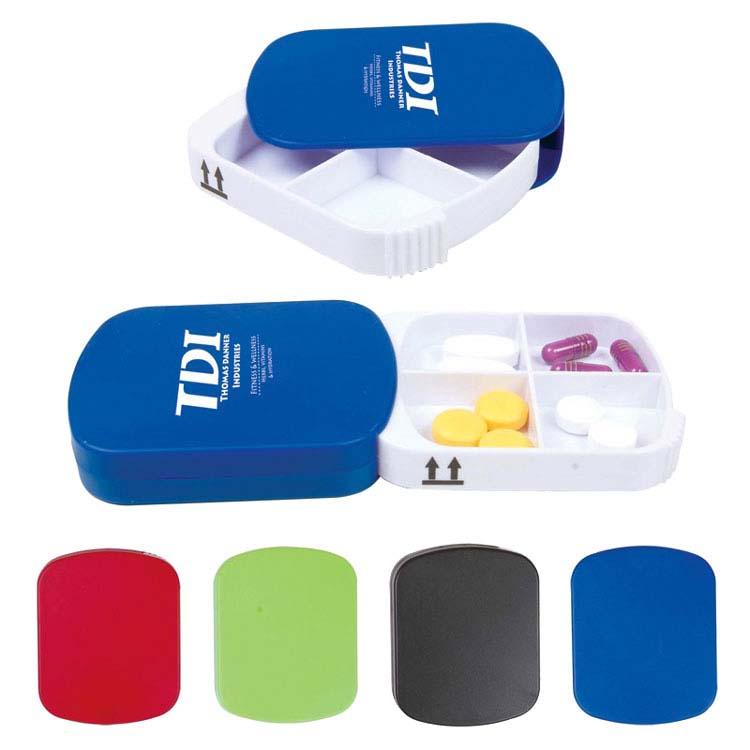 Boîte à pilules à 4 compartiments