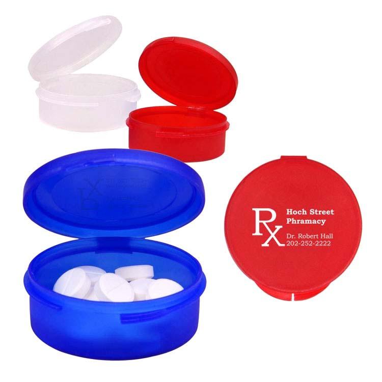 Boîte à pilules en plastique à un compartiment