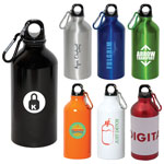 Aluminum Bottle 500 ml with Carabiner