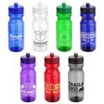 Cycler PET Eco-Polyclear Bottle with Push-Pull Lid