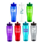 Sprint PET Eco-Polyclear Bottle with Push-Pull Lid