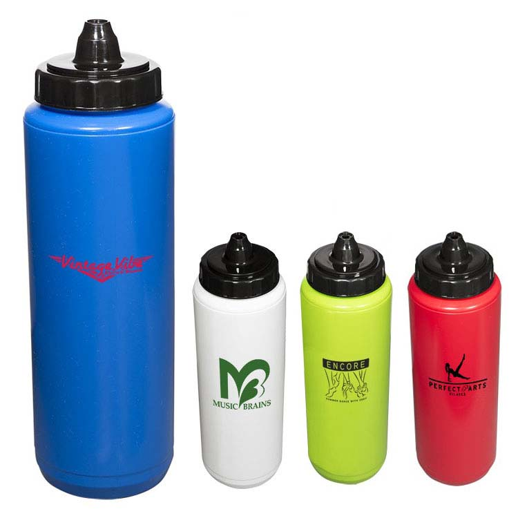 Budget Squeezable Water Bottle 34 oz