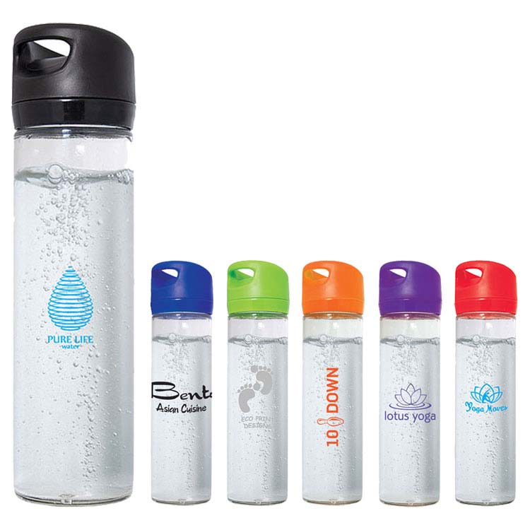 Single Wall Wide Mouth Glass Water Bottle - 500 ml (16 oz)