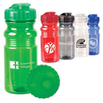 Translucent Sport Bottle with Snap Cap 20 oz