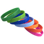Silicone Bracelet with Deboss logo