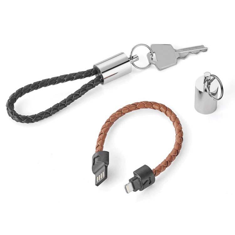 Câble de transfert de données et rechargement 2-en-1 et porte-clés Nathan