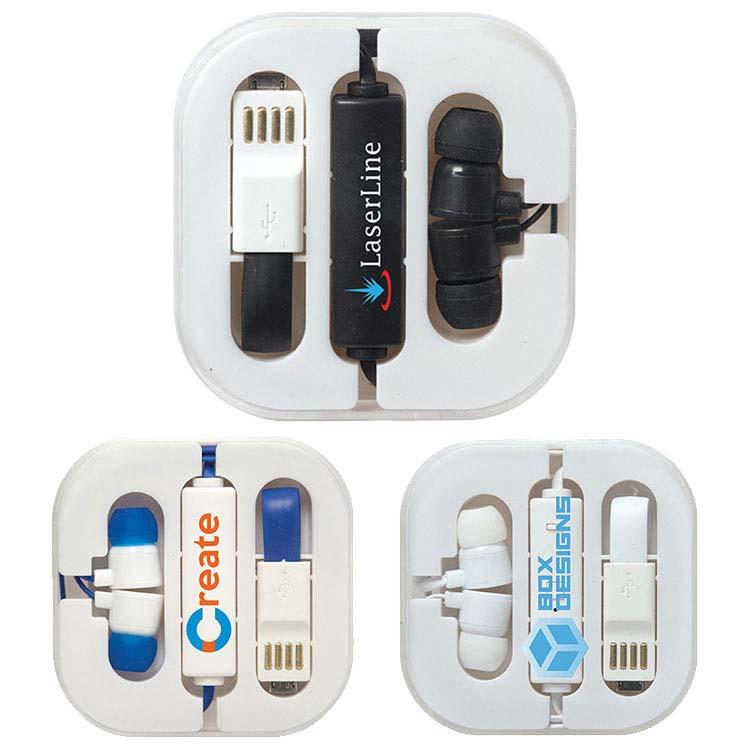 Écouteurs avec boîtier et support à cellulaire Audioholic