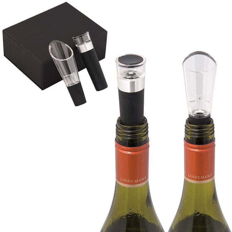 Ensemble à vin El Classico avec bouchon à vin et bec verseur
