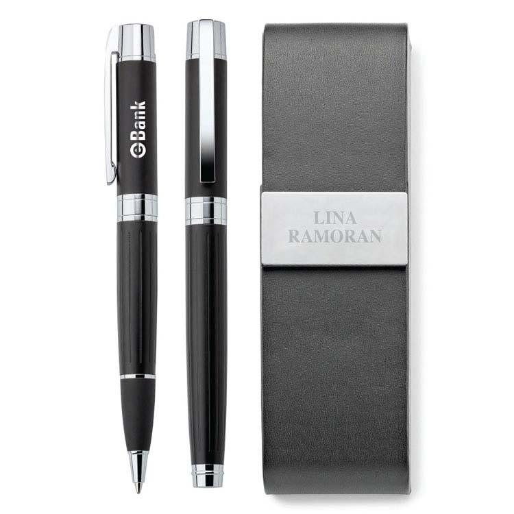 Ensemble stylo à bille et stylo à bille roulante Duncan